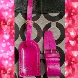 Custom painted Louis Vuitton luggage tag and belt